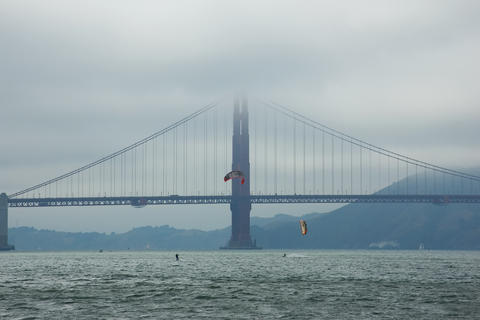 Golden Gate Bridge in a fog